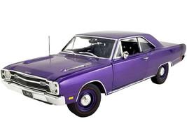 1969 Dodge Dart GTS 440 Plum Crazy Metallic Black Tail Stripe Limited Edition 642 pieces Worldwide 1/18 Diecast Model Car ACME A1806406
