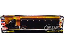 Mack Anthem Enclosed Transporter Black Custom Haulers Series 1/64 Diecast Model Maisto 12418