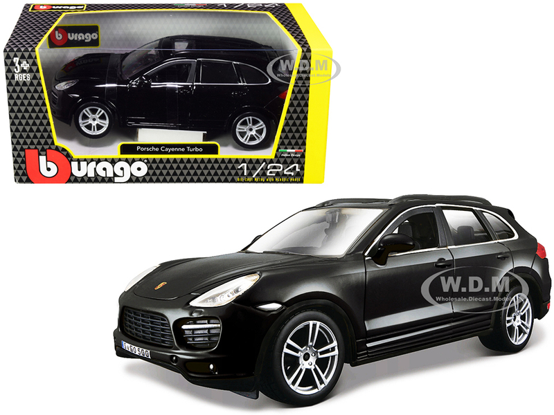 Porsche Cayenne Turbo Black 1/24 Diecast Model Car Bburago 21056