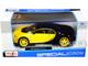 Bugatti Chiron Yellow Black 1/24 Diecast Model Car Maisto 31514