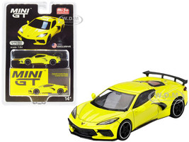 2020 Chevrolet Corvette Stingray Accelerate Yellow Metallic Limited Edition 2400 pieces Worldwide 1/64 Diecast Model Car True Scale Miniatures MGT00195