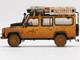 Land Rover Defender 110 Orange Dirty Version Winner Camel Trophy Team UK 1989 1/64 Diecast Model Car True Scale Miniatures MGT00221