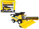 New Holland CR8.90 Combine Yellow Corn Head Draper Head New Holland Agriculture Series 1/32 Diecast Model ERTL TOMY 13898