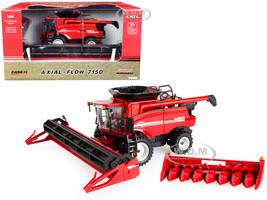 Case IH Axial-Flow 7150 Combine Red Draper Corn Heads Prestige Collection Series 1/64 Diecast Model ERTL TOMY 44243