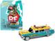 1959 Cadillac Ambulance Rat Fink Turquoise Yellow Graphics 1/64 Diecast Model Car Johnny Lightning JLSP143