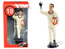 Jack Brabham Figurine Winner French Grand Prix Formula One F1 1966 1/18 Scale Models Le Mans Miniatures 118029