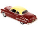 1950 Oldsmobile Rocket 88 Coupe Chariot Red Canto Cream Top 1/87 HO Scale Diecast Model Car Oxford Diecast 87OR50001