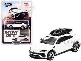 Lamborghini Urus Roof Box Bianco Monocerus Matt White Limited Edition 2400 pieces Worldwide 1/64 Diecast Model Car True Scale Miniatures MGT00220