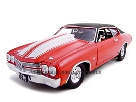 1970 Chevrolet Chevelle SS 454 Pro Street Red 1/24 Diecast Car Unique Replicas 18677