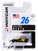 Dallara IndyCar #26 Colton Herta Gainbridge Andretti Autosport NTT IndyCar Series 2021 1/64 Diecast Model Car Greenlight 11509