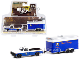 1987 Chevrolet M1008 Pickup Truck Blue White Communications Trailer SEMO New York State Emergency Management Office Hitch & Tow Series 22 1/64 Diecast Model Car Greenlight 32220 C