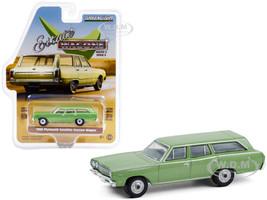 1968 Plymouth Satellite Station Wagon Sea Mist Green Metallic Estate Wagons Series 6 1/64 Diecast Model Car Greenlight 36010 B
