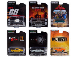 Hollywood Series Set of 6 pieces Release 31 1/64 Diecast Model Cars Greenlight 44910