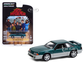 1991 Ford Mustang GT Green Metallic Silver Home Improvement 1991 1999 TV Series Hollywood Series Release 31 1/64 Diecast Model Car Greenlight 44910 C