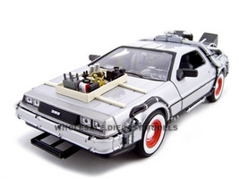 "Delorean From Movie ""Back To The Future 3"" 1/24 Diecast Car Welly 22444"