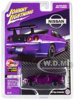 2000 Nissan Skyline GT-R BNR34 Purple Metallic Limited Edition 2400 pieces Worldwide 1/64 Diecast Model Car Johnny Lightning JLCP7352