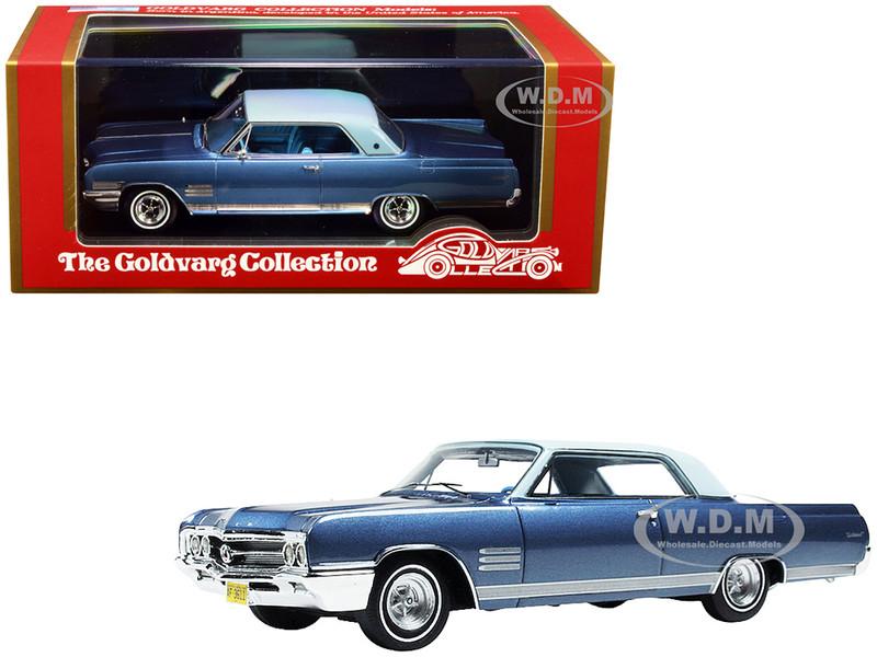 1964 Buick Wildcat Diplomat Blue Metallic Light Blue Top Limited Edition 220 pieces Worldwide 1/43 Model Car Goldvarg Collection GC-028 B