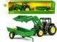 John Deere 6210 Tractor Loader Spreader Set of 2 pieces 1/32 Diecast Models ERTL TOMY 15488P1