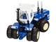 Kinze 640 Big Blue Tractor Blue White Cab 1/64 Diecast Model SpecCast GPR1334