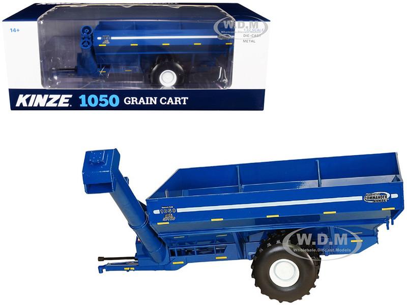 Kinze 1050 Grain Cart Flotation Tires Blue 1/32 Diecast Model SpecCast GPR1338