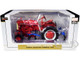International Harvester Farmall Cub Tractor with 4 Row Cultivator Red Classic Series 1/16 Diecast Model SpecCast ZJD1905