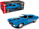 1970 Mercury Cougar Eliminator Hardtop Competition Blue Black Stripes Muscle Car & Corvette Nationals MCACN American Muscle 30th Anniversary 1/18 Diecast Model Car Autoworld AMM1253
