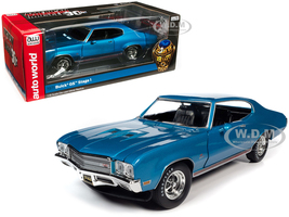 1971 Buick Grand Sport GS Stage 1 Stratomist Blue Metallic Class of 1971 American Muscle 30th Anniversary 1/18 Diecast Model Car Autoworld AMM1257