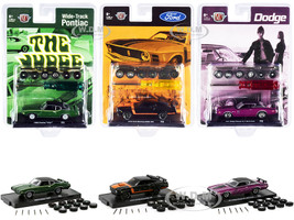 Auto Wheels 3 piece Car Set Release 8 Limited Edition 5250 pieces Worldwide 1/64 Diecast Model Cars M2 Machines 34001-08