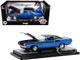 1970 Dodge Challenger T/A 340 Six Pack Blue Metallic Black Blue Interior Limited Edition 6500 pieces Worldwide 1/24 Diecast Model Car M2 Machines 40300-85 A