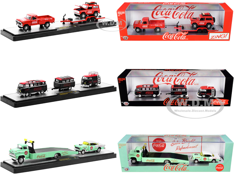 Auto Haulers Coca-Cola Set of 3 pieces Release 11 Limited Edition 7400 pieces Worldwide 1/64 Diecast Models M2 Machines 56000-TW11