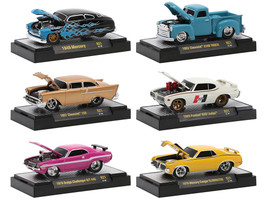 Ground Pounders 6 Cars Set Release 21 IN DISPLAY CASES 1/64 Diecast Model Cars M2 Machines 82161-21