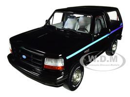 1992 Ford Bronco Nite Edition Black Multicolor Stripes 1/18 Diecast Model Car Greenlight 19088