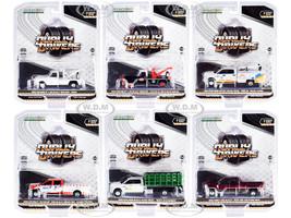 Dually Drivers Set of 6 Trucks Series 7 1/64 Diecast Model Cars Greenlight 46070