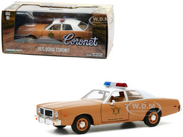 1975 Dodge Coronet Brown White Top Choctaw County Sheriff 1/24 Diecast Model Car Greenlight 84097