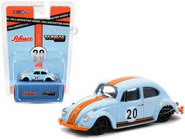 Volkswagen Beetle Low Ride #20 Light Blue Orange Collaboration Model 1/64 Diecast Model Car Schuco Tarmac Works T64S-006-GF