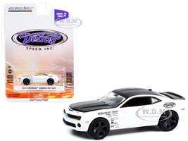 2012 Chevrolet Camaro Test Car White Monster White Black Detroit Speed Inc Series 2 1/64 Diecast Model Car Greenlight 39070 F