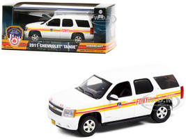 2011 Chevrolet Tahoe White Stripes FDNY Fire Department City of New York 1/43 Diecast Model Car Greenlight 86189