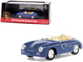 1958 Porsche 356 Speedster Super Aquamarine Blue 1/43 Diecast Model Car Greenlight 86598