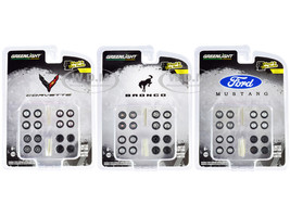 Wheel & Tire Packs Set of 3 Multipacks Series 5 for 1/64 Scale Models Greenlight 16090