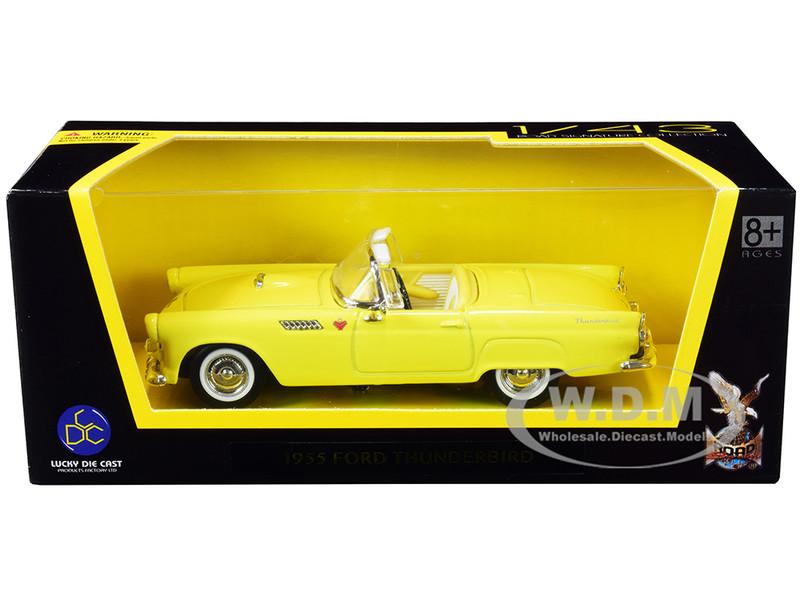 1955 Ford Thunderbird Convertible Yellow 1/43 Diecast Model Car Road Signature 94228