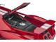 2017 Ford GT Liquid Red Metallic Silver Stripes 1/12 Model Car Autoart 12106