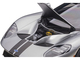 2017 Ford GT Ingot Silver Metallic Black Stripes 1/12 Model Car Autoart 12108