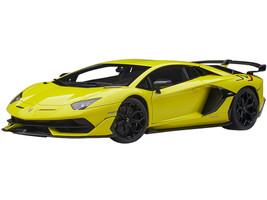 Lamborghini Aventador SVJ Giallo Tenerife Pearl Yellow 1/18 Model Car Autoart 79175