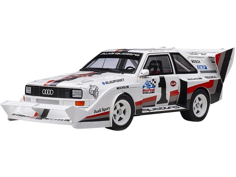 Audi Quattro S1 #1 Walter Roehrl Winner Pikes Peak 1987 1/18 Model Car Autoart 88700