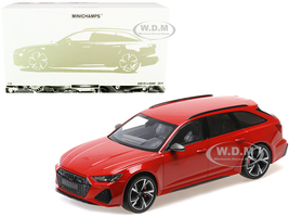 2019 Audi RS 6 Avant Red Metallic Limited Edition 300 pieces Worldwide 1/18 Diecast Model Car Minichamps 155018010