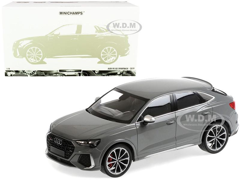 2019 Audi RS Q3 Sportback Gray Limited Edition 240 pieces Worldwide 1/18 Diecast Model Car Minichamps 155018100