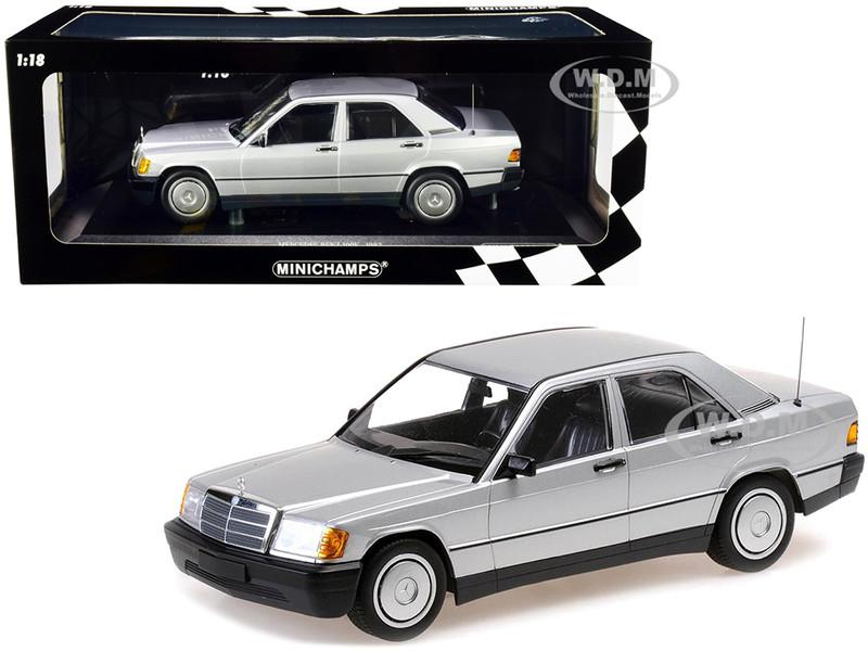 1982 Mercedes Benz 190E W201 Silver Metallic Limited Edition 504 pieces Worldwide 1/18 Diecast Model Car Minichamps 155037004