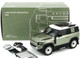2020 Land Rover Defender 90 Roof Rack Pangea Green Metallic White Top 1/18 Diecast Model Car Almost Real 810704