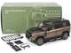 2020 Land Rover Defender 110 Roof Rack Gondwana Stone Brown Metallic Black 1/18 Diecast Model Car Almost Real 810803