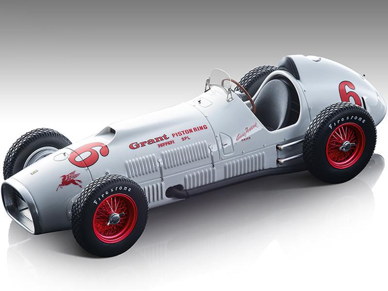 1952 Ferrari 375 F1 Indy #6 White Red Wheels Indianapolis 500 Ferrari Museum Mythos Series Limited Edition 145 pieces Worldwide 1/18 Model Car Tecnomodel TM18-193C